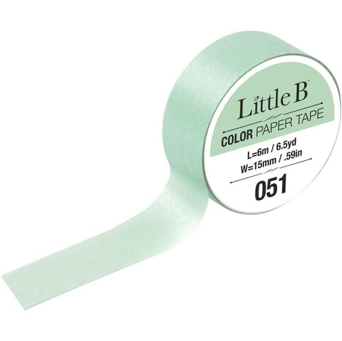 Cinta Decorativa Washi Tape Color Mint Green Little B