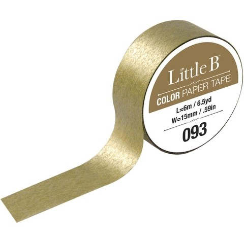 Cinta Decorativa Washi Tape Color Dorada Gold Little B