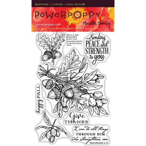 Sellos de Olive & Oak Expand Clear Stamp Power Poppy - comprar online