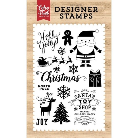 Sellos Holly Jolly Clear Stamp Echo Park Paper