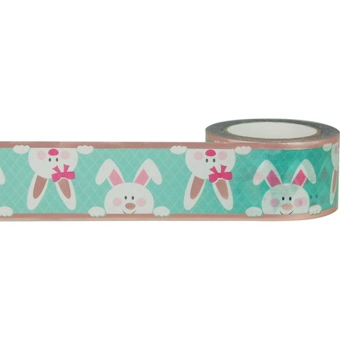 Cinta Decorativa Washi Tape Bunnies With Rose Gold Little B