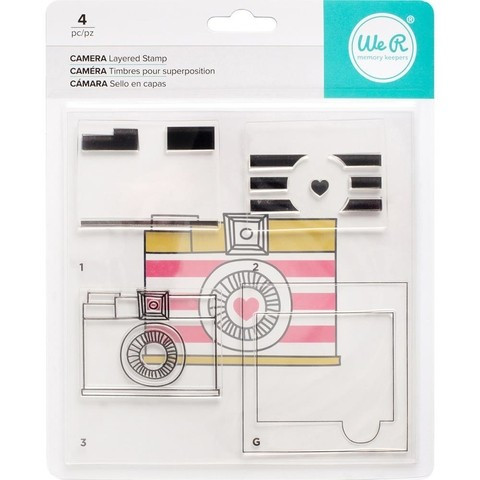 Sello Acrílico Layered Stamp Camara WE R MEMORY KEEPERS - comprar online