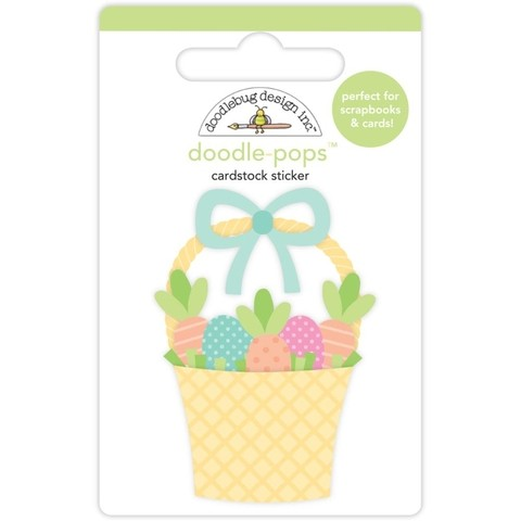Sticker tridimensional Easter Express Basket Doodlebug