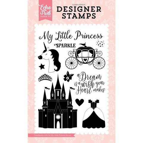 Sellos My Little Princess Clear Stamp Echo Park Paper - comprar online
