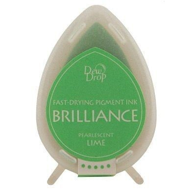 Almohadilla de Tinta Dew Drop Brilliance Tsukineko Lime