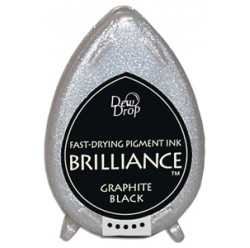 Almohadilla de Tinta Dew Drop Brilliance Tsukineko Graphite Black