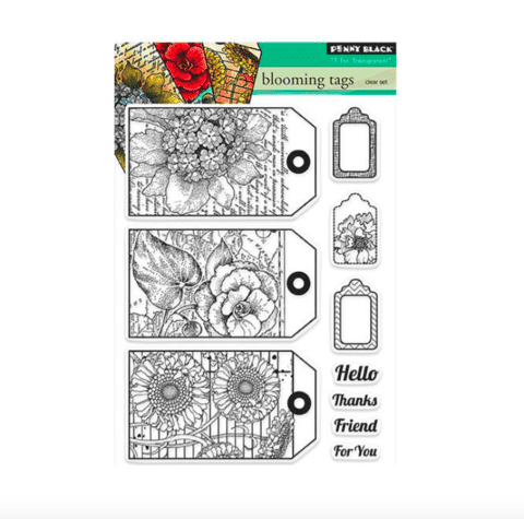 Sellos Blooming Tags Clear Stamp Penny Black - comprar online