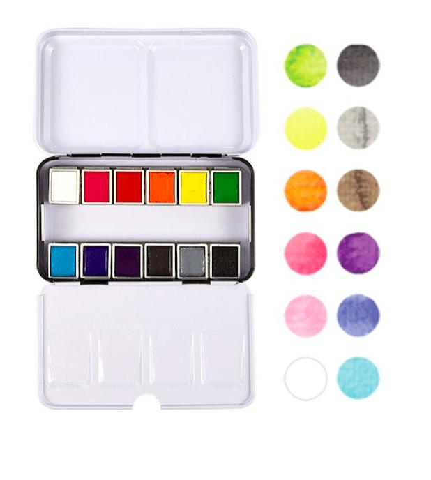 12 Colores Caja de Pinturas ColorBox