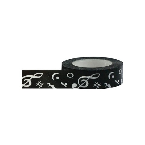Cinta Decorativa Washi Tape Notas Musicales