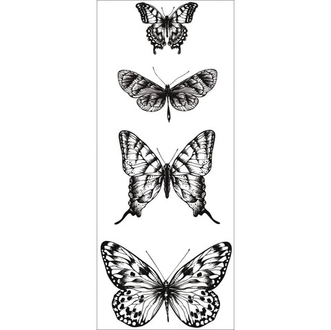 Sellos de Mariposas Clear Stamp Kaisercraft - comprar online
