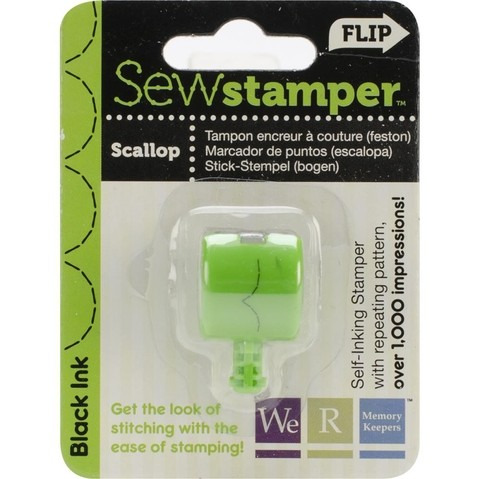 Cabezal de sello para Sew Stamper We R Memory Keepers Scallop