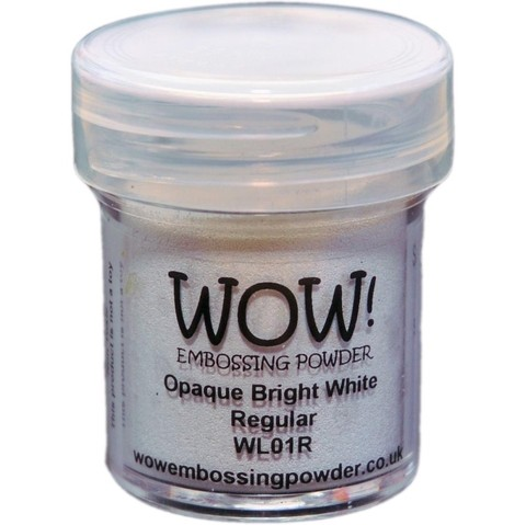 Polvo para embossing Opaque Bright White Wow!