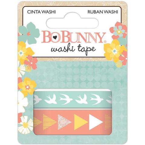 2 Cintas Decorativas Washi Tape Baby Bump Bo Bunny