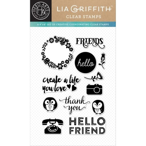 Sello Friends Clear Stamps Hero Arts