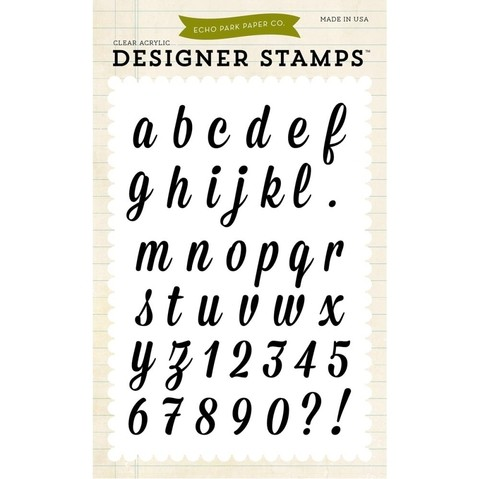 Sello Alfabeto Charlotte Clear Stamp Echo Park Paper - comprar online