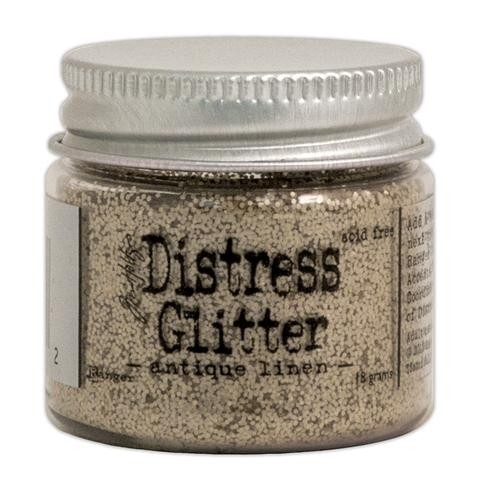 Distress Glitter color Antique Linen Tim Holtz 18 gr - comprar online