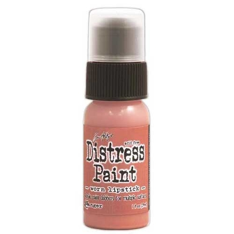 Pintura Acrílica con aplicador Distress Paint Color Worn Lipstick