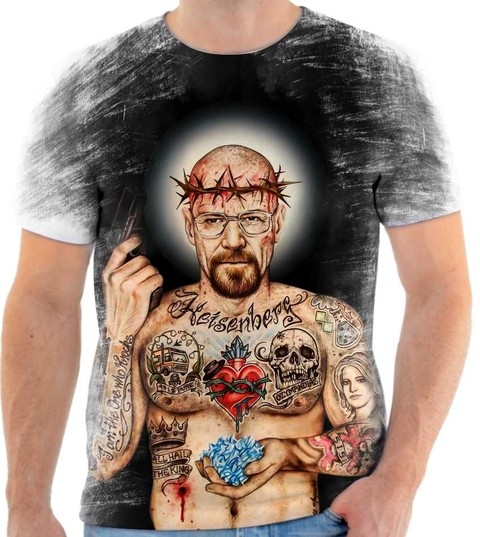 Camiseta Breaking Bad - Walter withe Tattoo 02