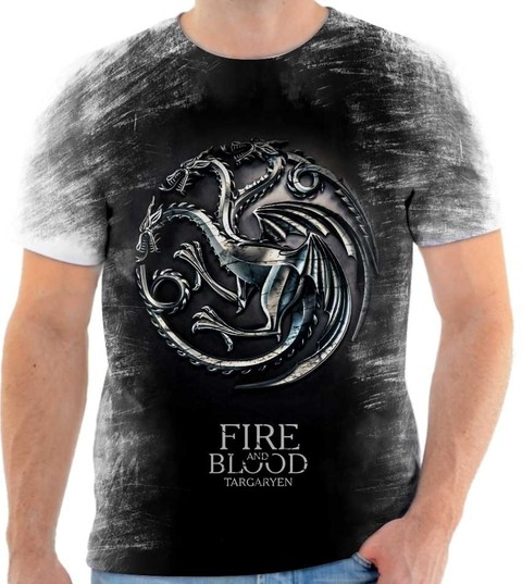Camiseta Game of Thrones  Fire And Blood Targaryen