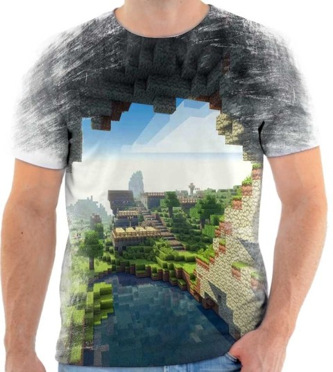 Camiseta Minecraft Rock - 01