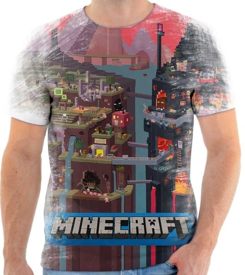 Camiseta Minecraft Rock 02