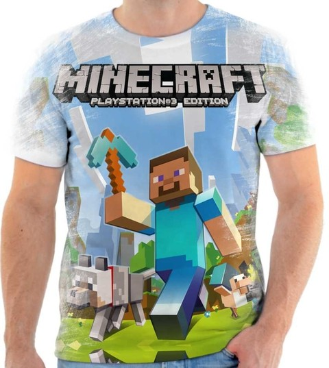 Camiseta Minecraft Rock 02 Front