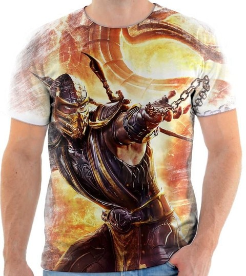 Camiseta Mortal Kombat Scorpion - 03 - Back