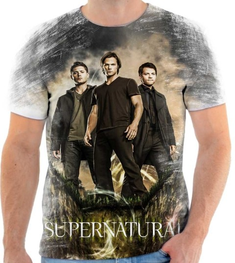 Camiseta Supernatural Sam, Dean & Castiel