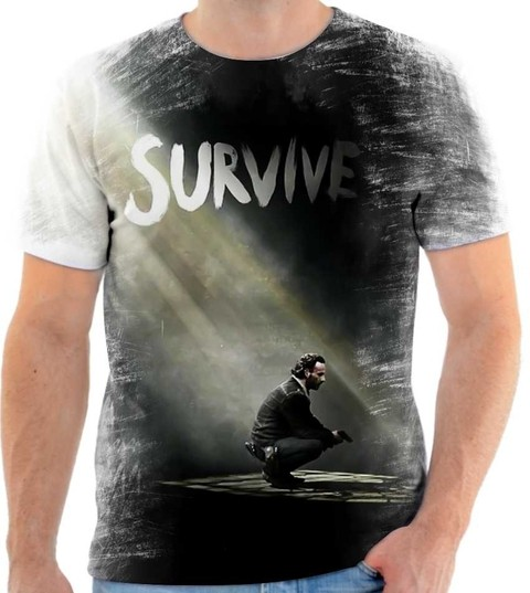 Camiseta The Walking Dead Rick Grimes 01