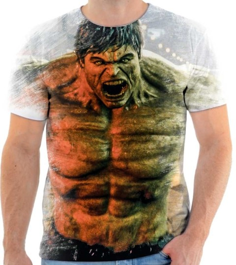 Camisetas Hulk, Super Heroi - 04 Back