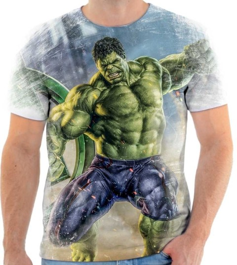 Camisetas Hulk, Super Heroi - 05 Back