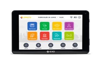 Tablet EXO +Simple Wi007 Ideal Adultos Mayores