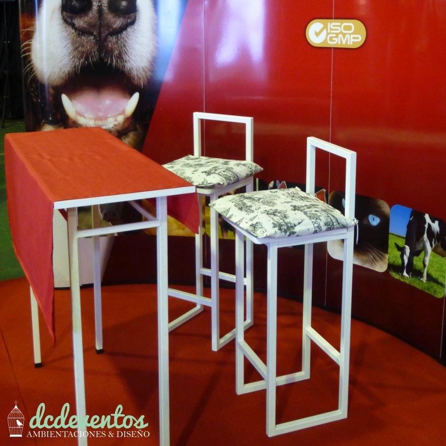 Alquiler de mesa alta 2 butacas altas - Butacas altas ...