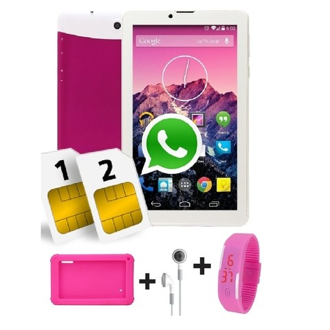 Tablet 7 Pulgadas Doble SIM Android Rosado