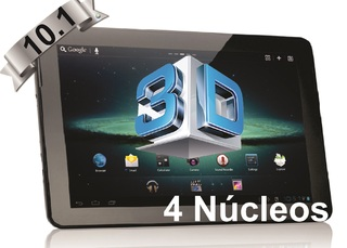 Tablet 10.1 Pulgadas Quad Core 1GB RAM T1066 Negro