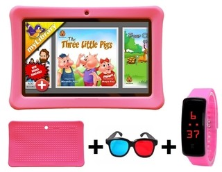 Tablet KIDS + Funda + Reloj + Gafas