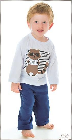 Pijama ´ Guaxinim Brilha no Escuro ´ Pingo lelê