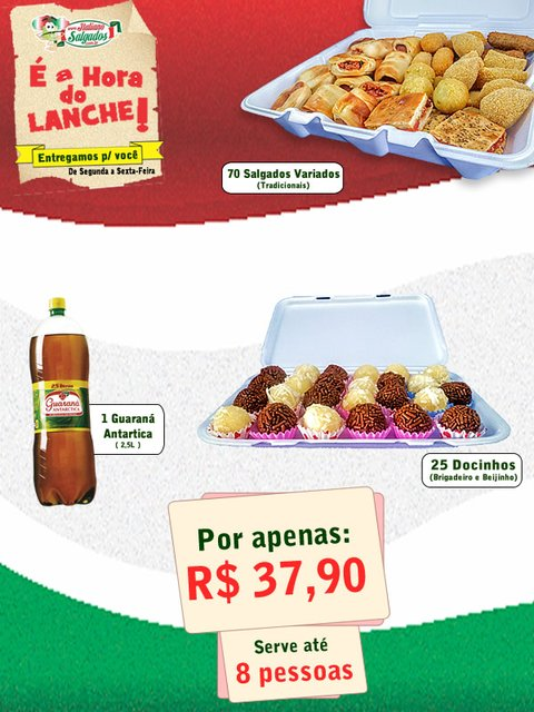 Kit é a Hora do Lanche com Docinhos