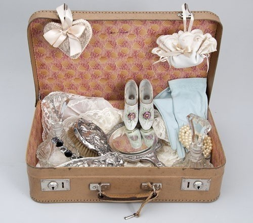 Ajuar de novia juego de toilette antiguo cepillos espejo de mano antiguo - Objetos vintage ...