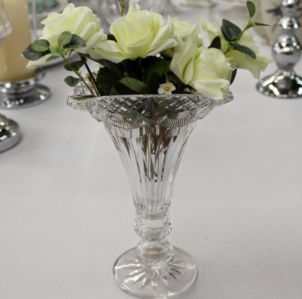 Floreros cristal jarrones centros de mesa cristal antiguos - Jarrones de cristal ...