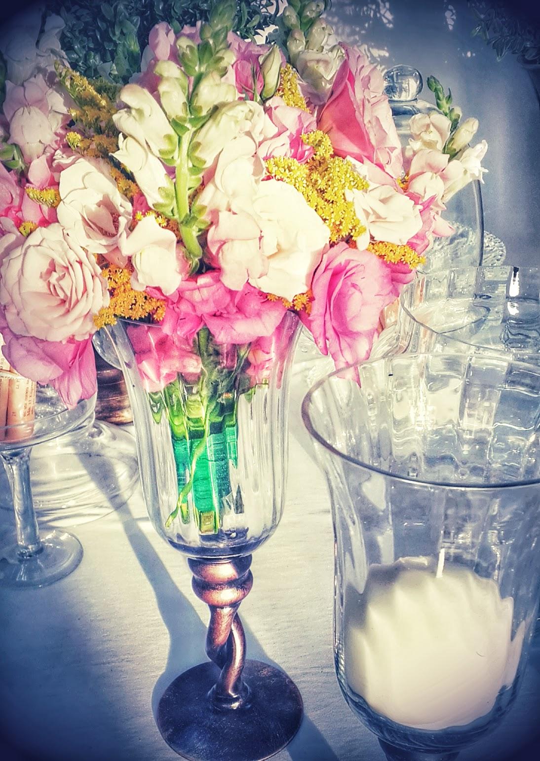 alquiler centros de mesa floreros