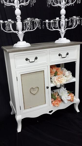 Muebles y deco shabby chic comoda dressoire vitrina for Alquiler muebles vintage