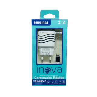 LA#8008 - Carregador INOVA 3.1 A - iPhone Usb Original