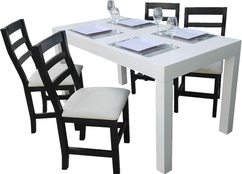 juego de comedor mesa asia sillas capri tapizadas