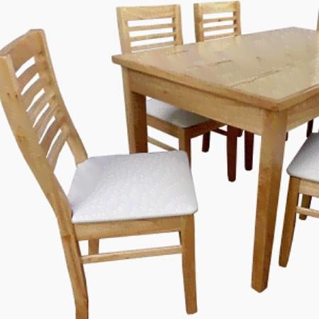 Juego de comedor mesa viena sillas m dena madera de para so - Mesa y sillas para ninos de madera ...