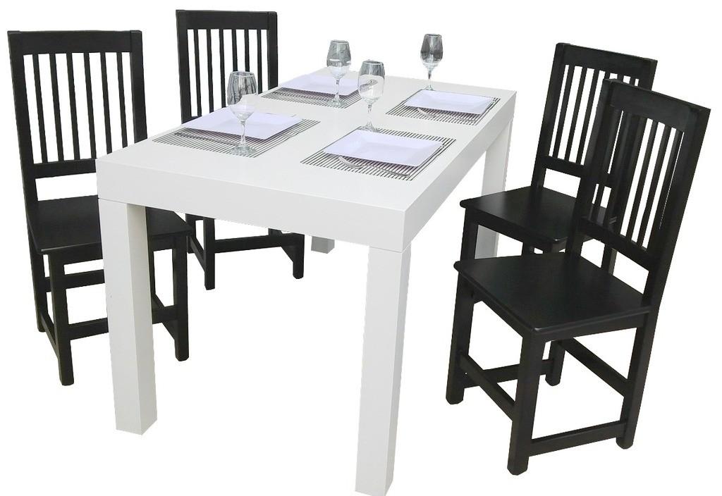 Silla modelo veneciana laqueada espacio madera for Modelos de mesas de comedor de madera