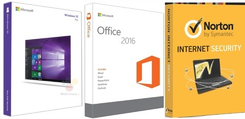 Super Promoção 84% OFF, Windows 10 Pro, OFFICE 2016 PROFESSIONAL PLUS E NORTON INTERNET SECURITY 1 PC 1 ANO