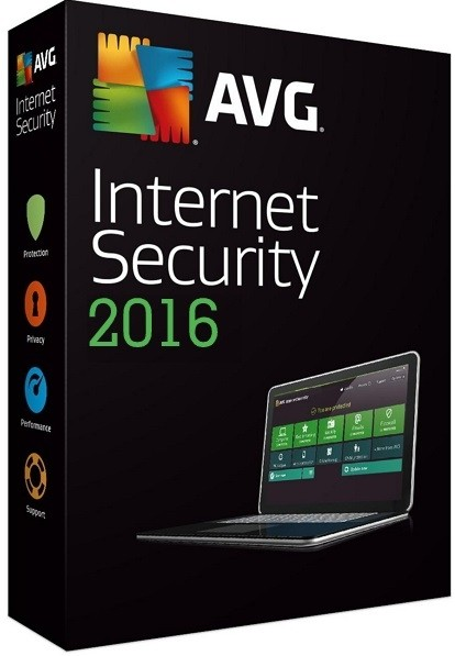 60% OFF - Antivírus AVG Internet Security 2016 1Ano 3PCs