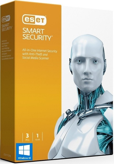 40% OFF - ESET Smart Security 9 - 2016 - 3 PCs 1 Ano