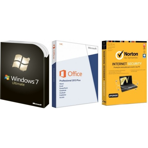 SUPER PROMOÇÃO 84% OFF, Windows 7 Ultimate, Office 2013 Professional Plus e Norton Internet Security 1 PC 1 ANO